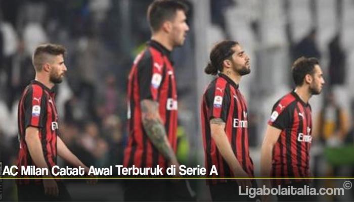 AC Milan Catat Awal Terburuk di Serie A