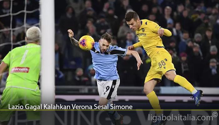 Lazio Gagal Kalahkan Verona Sesal Simone